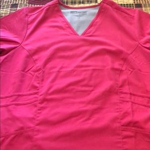 Pink Grey's Anatomy scrub top
